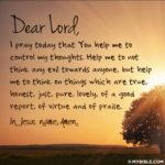 Je voudrais prier, mais…